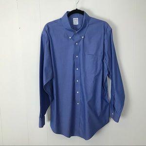 Brooks brothers mens slim fit blue shirt 17.5 35